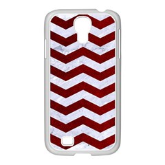 Chevron3 White Marble & Red Grunge Samsung Galaxy S4 I9500/ I9505 Case (white) by trendistuff
