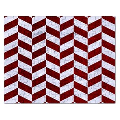 Chevron1 White Marble & Red Grunge Rectangular Jigsaw Puzzl by trendistuff