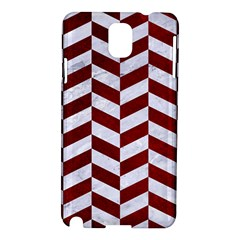 Chevron1 White Marble & Red Grunge Samsung Galaxy Note 3 N9005 Hardshell Case by trendistuff