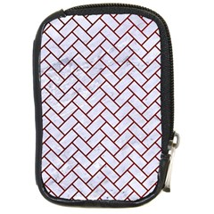 Brick2 White Marble & Red Grunge (r) Compact Camera Cases by trendistuff