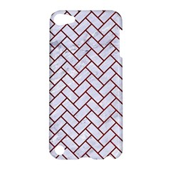 Brick2 White Marble & Red Grunge (r) Apple Ipod Touch 5 Hardshell Case