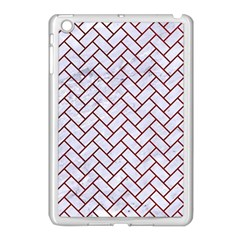 Brick2 White Marble & Red Grunge (r) Apple Ipad Mini Case (white) by trendistuff
