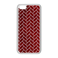 Brick2 White Marble & Red Grunge Apple Iphone 5c Seamless Case (white) by trendistuff