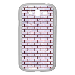 Brick1 White Marble & Red Grunge (r) Samsung Galaxy Grand Duos I9082 Case (white) by trendistuff