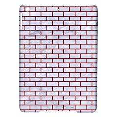 Brick1 White Marble & Red Grunge (r) Ipad Air Hardshell Cases by trendistuff