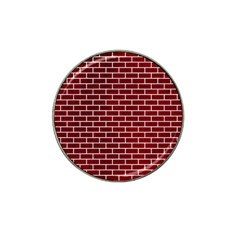 Brick1 White Marble & Red Grunge Hat Clip Ball Marker (10 Pack)