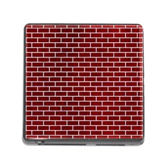 Brick1 White Marble & Red Grunge Memory Card Reader (square) by trendistuff