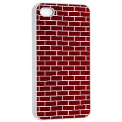 Brick1 White Marble & Red Grunge Apple Iphone 4/4s Seamless Case (white) by trendistuff