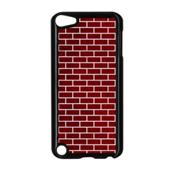 Brick1 White Marble & Red Grunge Apple Ipod Touch 5 Case (black) by trendistuff