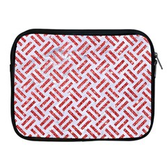 Woven2 White Marble & Red Glitter (r) Apple Ipad 2/3/4 Zipper Cases by trendistuff