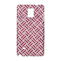 Woven2 White Marble & Red Glitter (r) Samsung Galaxy Note 4 Hardshell Case by trendistuff