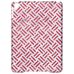 Woven2 White Marble & Red Glitter (r) Apple Ipad Pro 9 7   Hardshell Case by trendistuff