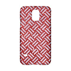 Woven2 White Marble & Red Glitter Samsung Galaxy S5 Hardshell Case  by trendistuff