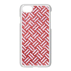 Woven2 White Marble & Red Glitter Apple Iphone 7 Seamless Case (white) by trendistuff