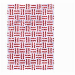 Woven1 White Marble & Red Glitter (r) Large Garden Flag (two Sides) by trendistuff