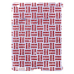 Woven1 White Marble & Red Glitter (r) Apple Ipad 3/4 Hardshell Case (compatible With Smart Cover) by trendistuff