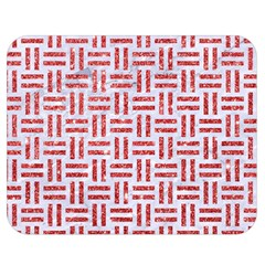 Woven1 White Marble & Red Glitter (r) Double Sided Flano Blanket (medium)  by trendistuff