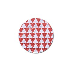 Triangle2 White Marble & Red Glitter Golf Ball Marker (4 Pack) by trendistuff