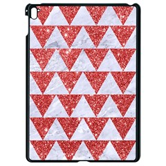 Triangle2 White Marble & Red Glitter Apple Ipad Pro 9 7   Black Seamless Case