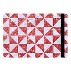 Triangle1 White Marble & Red Glitter Apple Ipad Pro 10 5   Flip Case by trendistuff