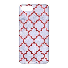 Tile1 White Marble & Red Glitter (r) Apple Iphone 7 Plus Hardshell Case