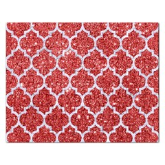 Tile1 White Marble & Red Glitter Rectangular Jigsaw Puzzl by trendistuff
