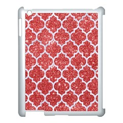 Tile1 White Marble & Red Glitter Apple Ipad 3/4 Case (white) by trendistuff
