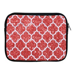 Tile1 White Marble & Red Glitter Apple Ipad 2/3/4 Zipper Cases by trendistuff
