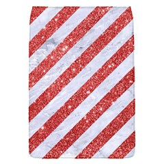 Stripes3 White Marble & Red Glitter (r) Flap Covers (s)  by trendistuff
