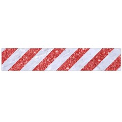 Stripes3 White Marble & Red Glitter (r) Large Flano Scarf  by trendistuff