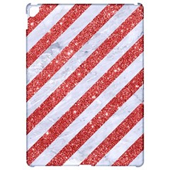 Stripes3 White Marble & Red Glitter (r) Apple Ipad Pro 12 9   Hardshell Case by trendistuff
