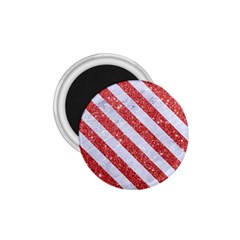 Stripes3 White Marble & Red Glitter White Marble & Red Glitter 1 75  Magnets by trendistuff