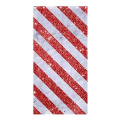 Stripes3 White Marble & Red Glitter White Marble & Red Glitter Shower Curtain 36  X 72  (stall)  by trendistuff