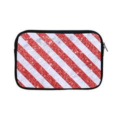 Stripes3 White Marble & Red Glitter White Marble & Red Glitter Apple Ipad Mini Zipper Cases by trendistuff