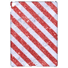 Stripes3 White Marble & Red Glitter White Marble & Red Glitter Apple Ipad Pro 12 9   Hardshell Case by trendistuff