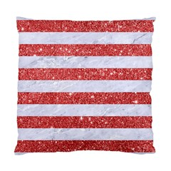 Stripes2white Marble & Red Glitter Standard Cushion Case (two Sides) by trendistuff