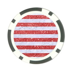 Stripes2white Marble & Red Glitter Poker Chip Card Guard (10 Pack) by trendistuff