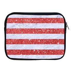 Stripes2white Marble & Red Glitter Apple Ipad 2/3/4 Zipper Cases by trendistuff