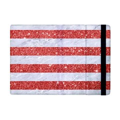 Stripes2white Marble & Red Glitter Ipad Mini 2 Flip Cases by trendistuff