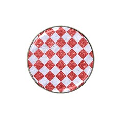 Square2 White Marble & Red Glitter Hat Clip Ball Marker (10 Pack) by trendistuff