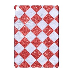 Square2 White Marble & Red Glitter Apple Ipad Pro 10 5   Hardshell Case by trendistuff