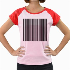 Barcode Pattern Women s Cap Sleeve T Shirt