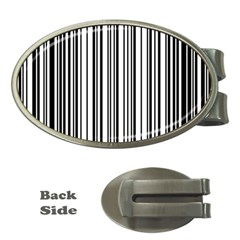 Barcode Pattern Money Clips (oval)