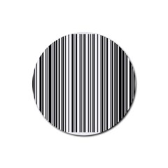 Barcode Pattern Rubber Round Coaster (4 Pack)