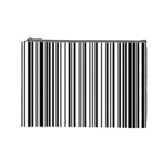 Barcode Pattern Cosmetic Bag (large)  by Sapixe