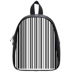 Barcode Pattern School Bag (small) by Sapixe