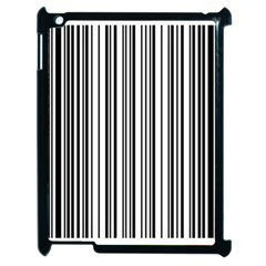 Barcode Pattern Apple Ipad 2 Case (black) by Sapixe