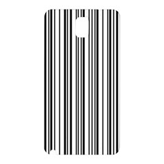 Barcode Pattern Samsung Galaxy Note 3 N9005 Hardshell Back Case by Sapixe