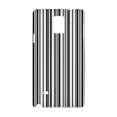 Barcode Pattern Samsung Galaxy Note 4 Hardshell Case by Sapixe