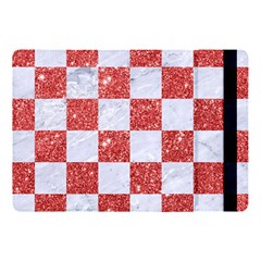 Square1 White Marble & Red Glitter Apple Ipad Pro 10 5   Flip Case